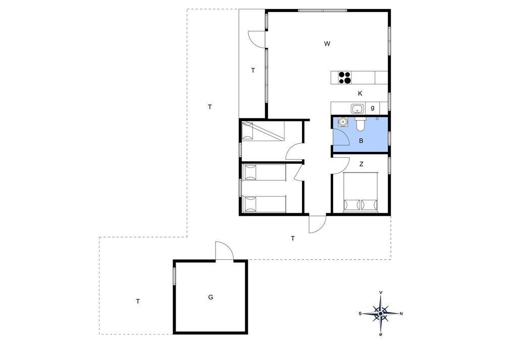 Indretning 1-178 Sommerhus LN1461, Brune Banke 5, DK - 9800 Hjørring