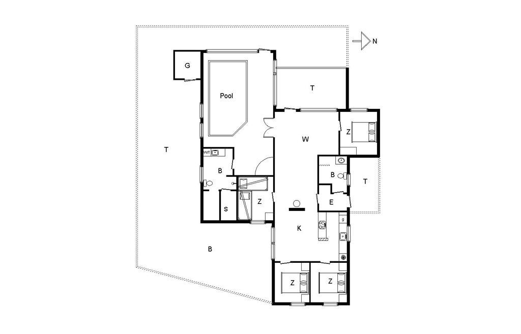 Indretning 1-14 Sommerhus 406, Graabakken 57, DK - 9493 Saltum