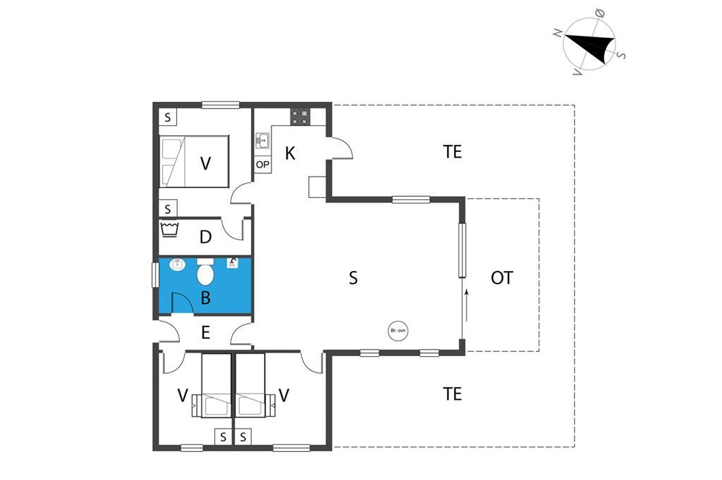 Indretning 1-19 Sommerhus 30393, Rude Havvej 182, DK - 8300 Odder