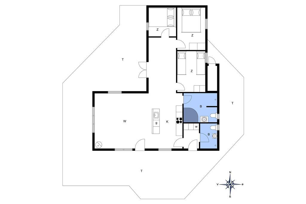 Indretning 1-176 Sommerhus BL213, Nordvej 18, DK - 9490 Pandrup