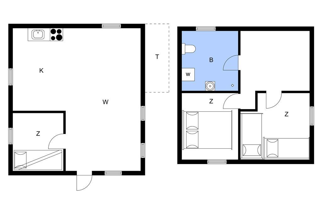 Indretning 1-11 Sommerhus 0368, Vestergade 159, DK - 6792 Rømø