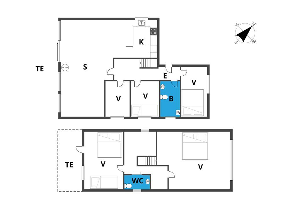 Indretning 1-19 Sommerhus 30472, Strandparksvej 67, DK - 8300 Odder