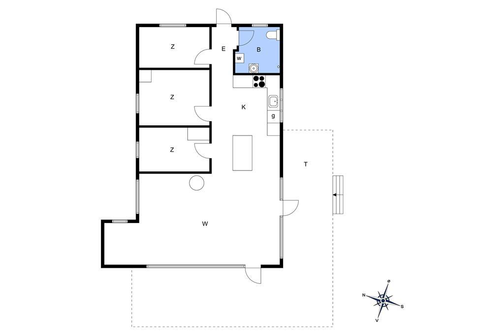 Indretning 1-174 Sommerhus M11002, Sneppevejen 16, DK - 4872 Idestrup