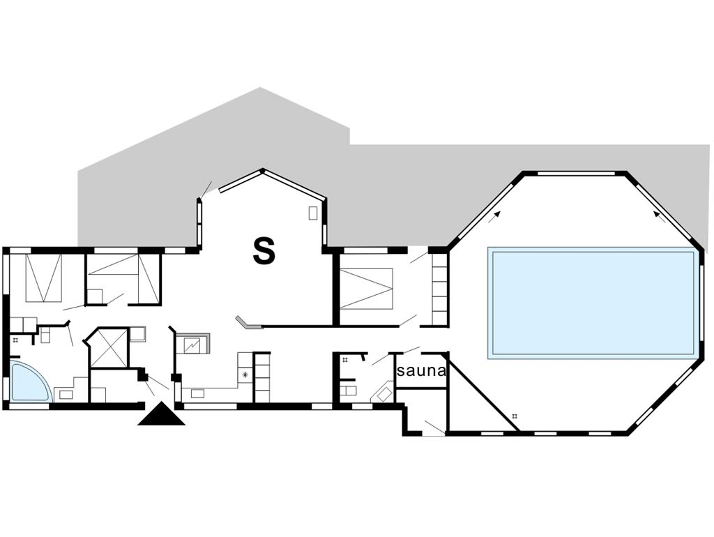 Indretning 1-175 Sommerhus 80608, Knudehus 51, DK - 7570 Vemb