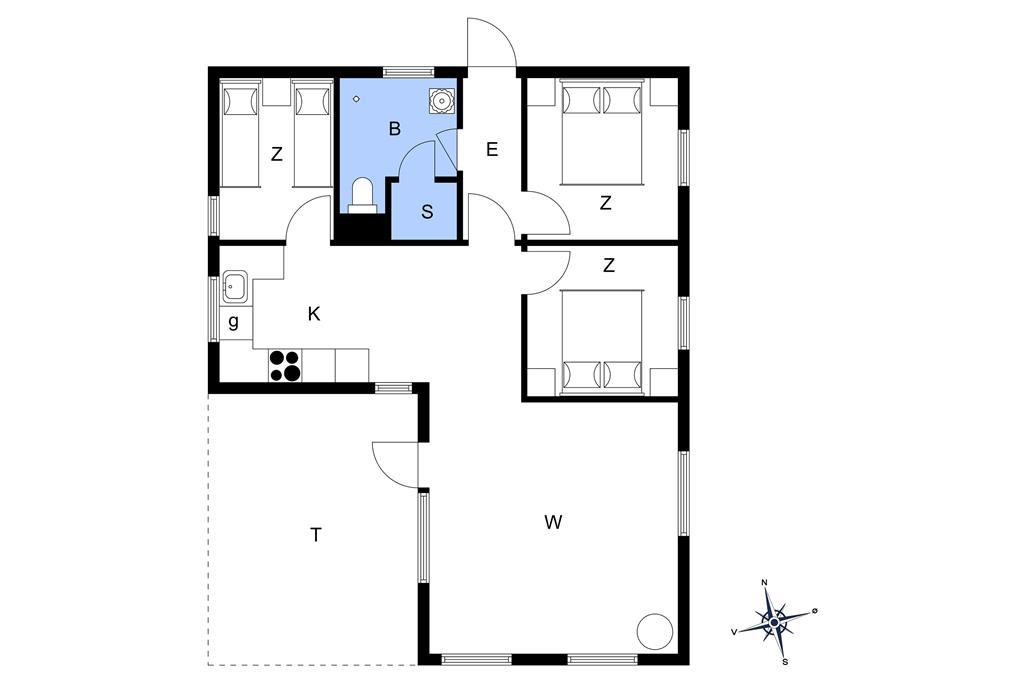Indretning 1-22 Sommerhus C11063, Kosigvænget 77, DK - 6893 Hemmet