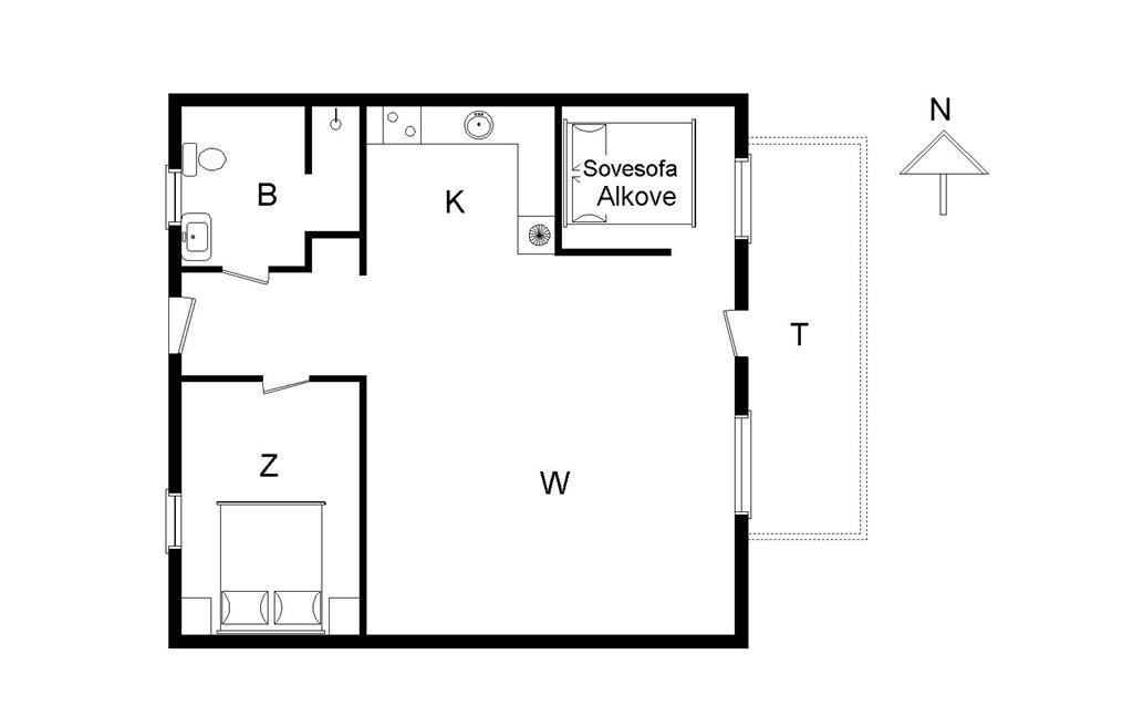Indretning 1-14 Sommerhus 544, Lyngbyvej 239, DK - 9480 Løkken