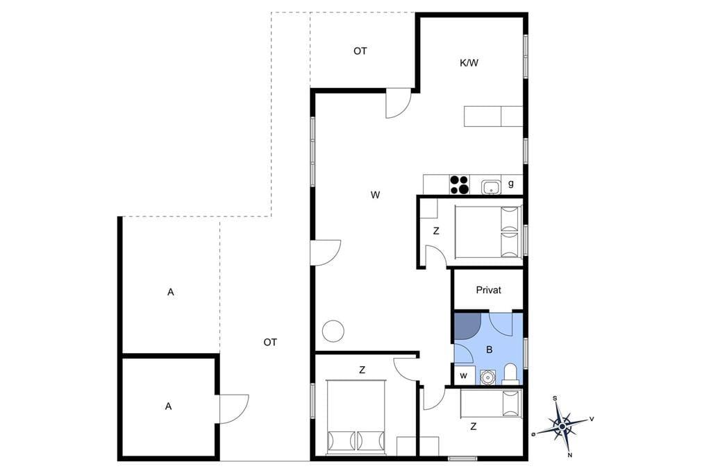 Indretning 1-13 Sommerhus 741, Klemsvej 29, DK - 7700 Thisted