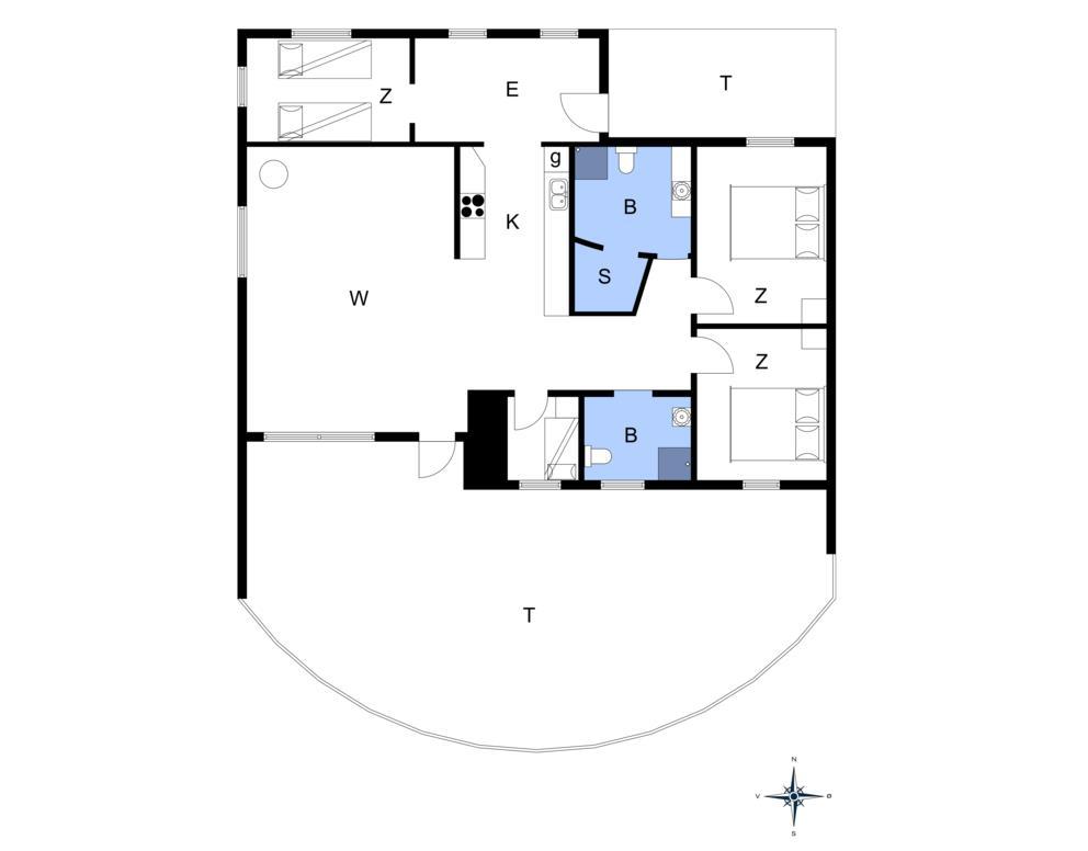 Innredning 1-14 Feirehus 1151, Sælvej 11, DK - 9480 Løkken