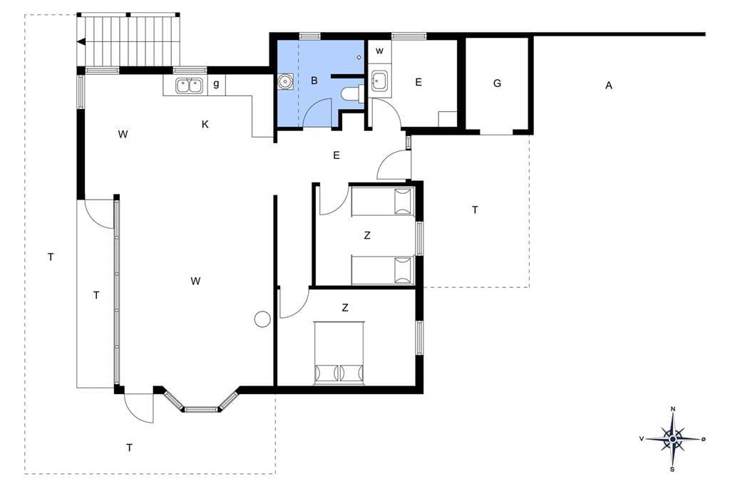 Interior 1-172 Holiday-home JB872, Nattergalevej 2, DK - 9460 Brovst