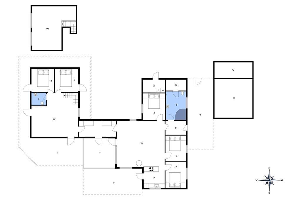 Innredning 1-176 Feirehus BL226, Paa Bakken 13, DK - 9492 Blokhus