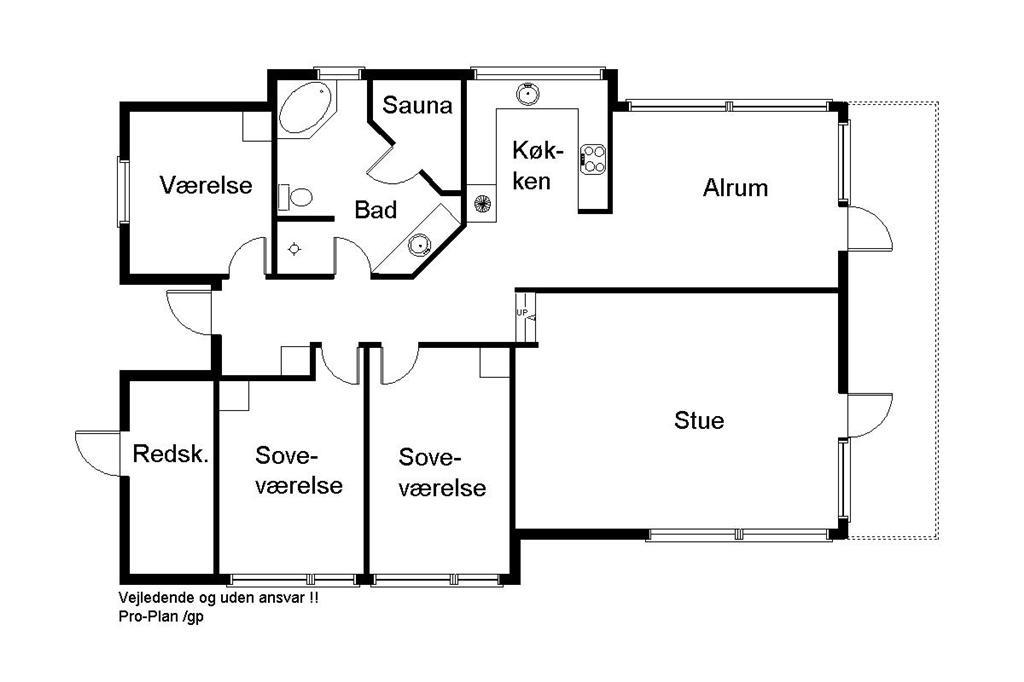 Indretning 1-170 Sommerhus 20205, Anemonevej 5, DK - 8305 Samsø