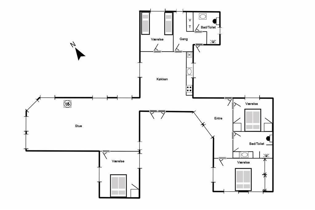 Interieur 1-125 Vakantiehuis 2143, Frytlevej 2, DK - 6854 Henne