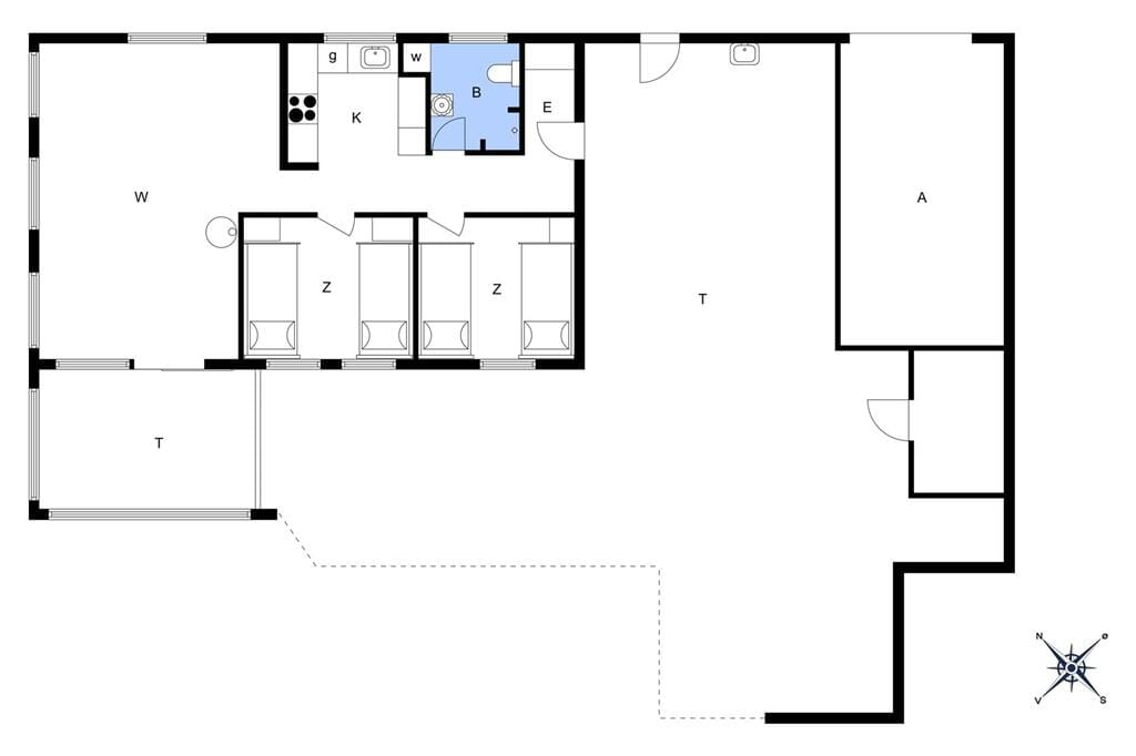 Innenausstattung 1-14 Ferienhaus 1165, Stellavej 2, DK - 9480 Løkken