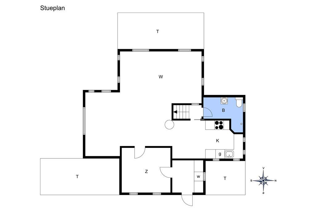 Indretning 1-14 Sommerhus 1449, Kienersvej 8, DK - 9492 Blokhus