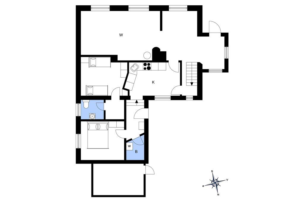 Indretning 1-3 Sommerhus M65010, Fønsskovvej 47, DK - 5580 Nørre Aaby