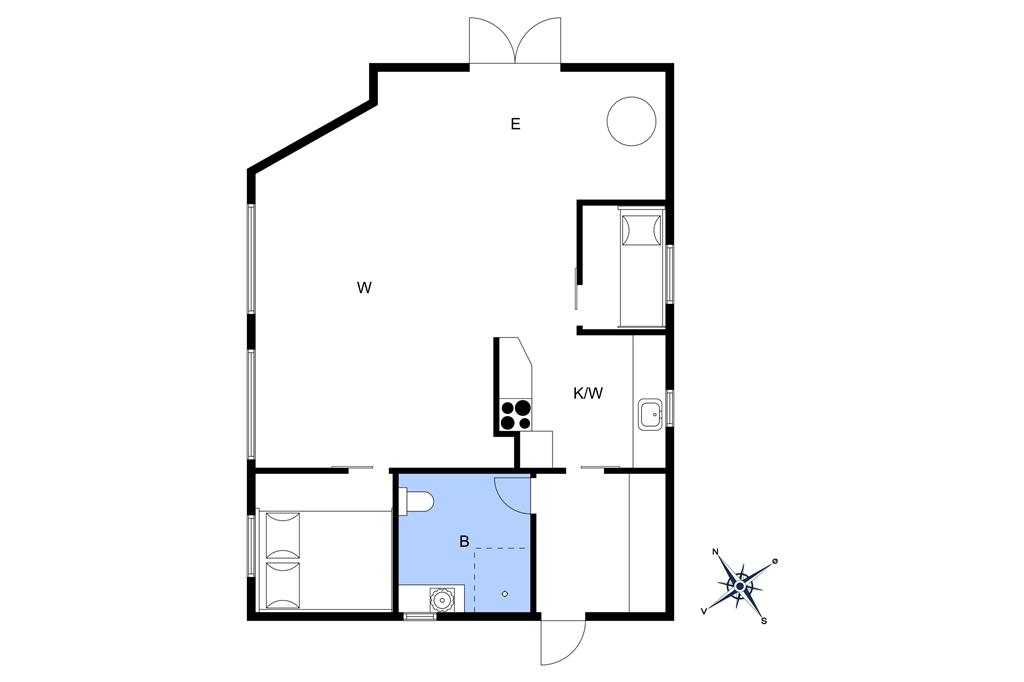 Innenausstattung 1-26 Ferienhaus SL261, Svenstrup Strandvej 109, DK - 4220 Korsør