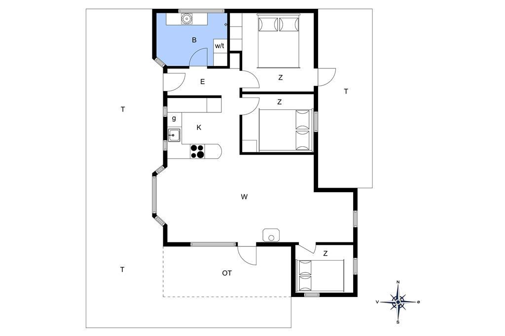 Innredning 1-14 Feirehus 1164, Bloksbjerg 28, DK - 9492 Blokhus