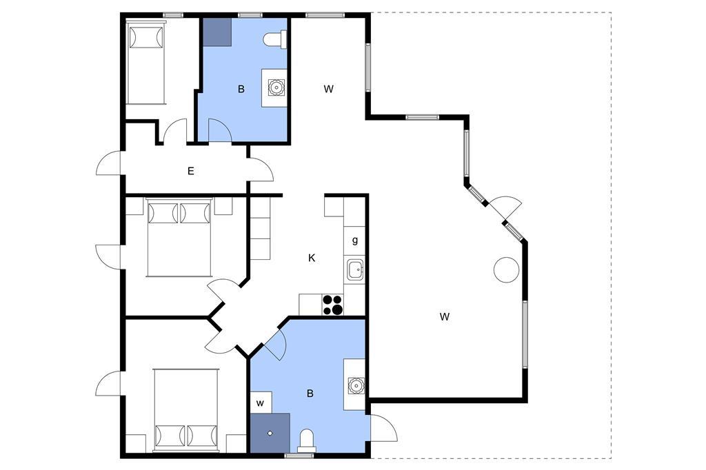 Interieur 15-3 Vakantiehuis M64271, Skrillinge Strand 100, DK - 5500 Middelfart