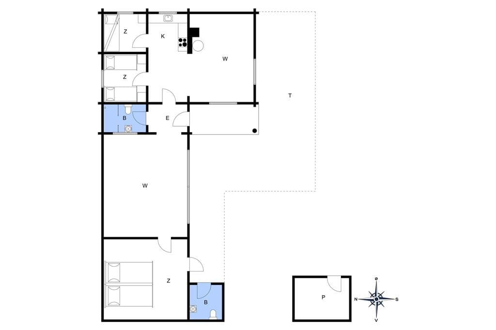 Innenausstattung 1-4 Ferienhaus 515, Sommervej 78, DK - 6960 Hvide Sande