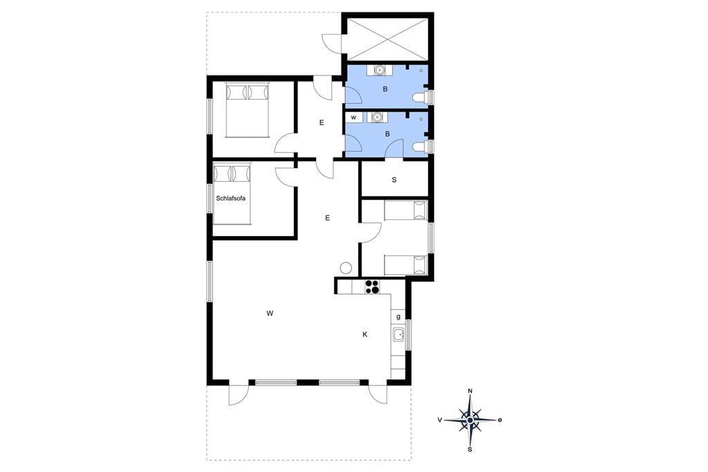 Indretning 1-3 Sommerhus L15022, Lynderupvej 3, DK - 8832 Skals