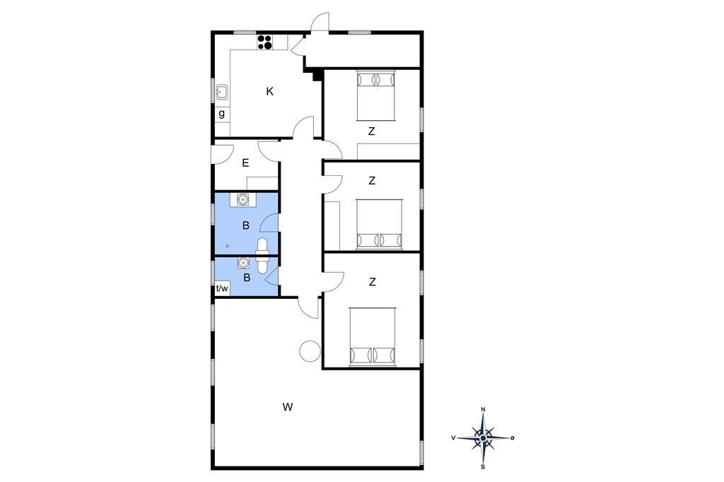 Innenausstattung 1-15 Ferienhaus 4302, Nordfeldvej 48, DK - 4780 Stege