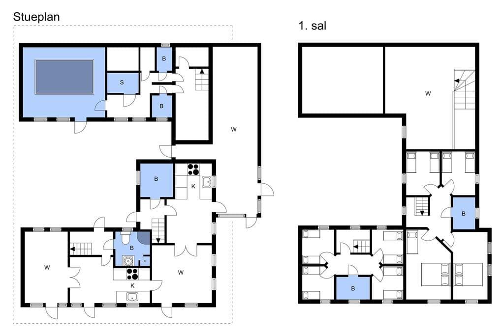 Indretning 1-3 Sommerhus M64211, Lerbjergvej 78, DK - 5500 Middelfart