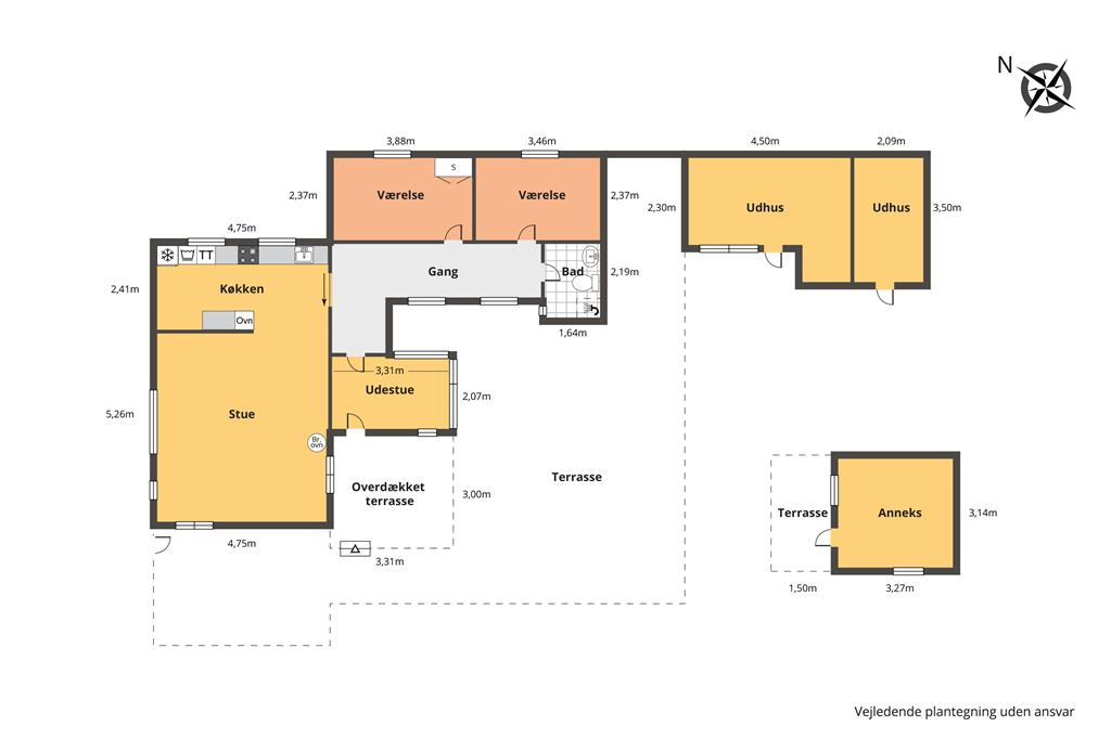Indretning 1-23 Sommerhus 8805, Skovvej 39, DK - 8585 Glesborg