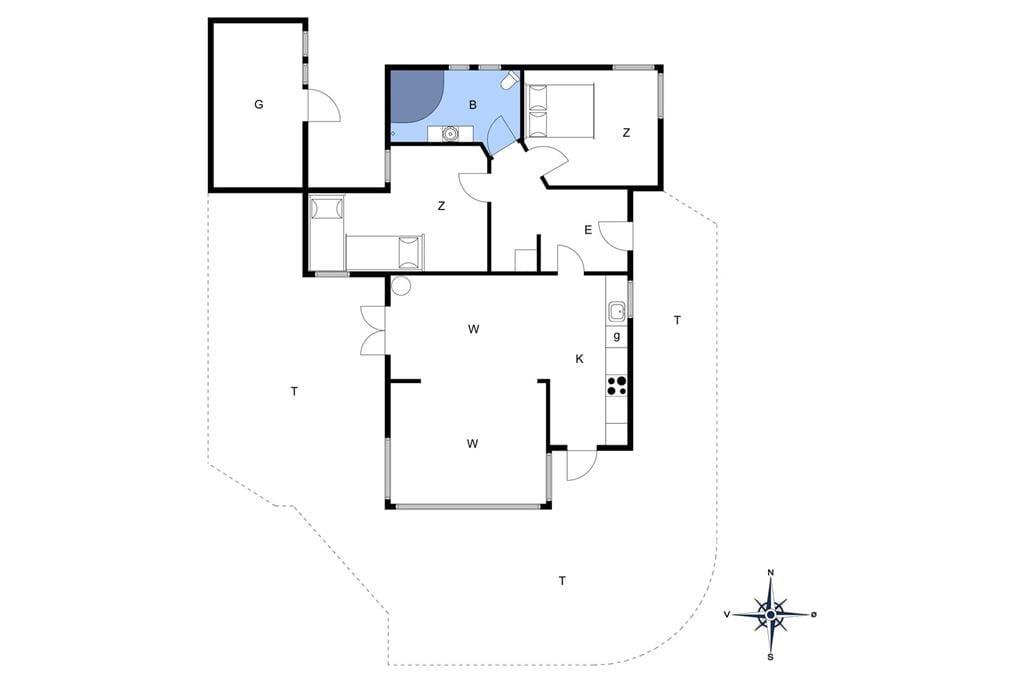 Indretning 1-19 Sommerhus 30604, Ternevej 18, DK - 8300 Odder
