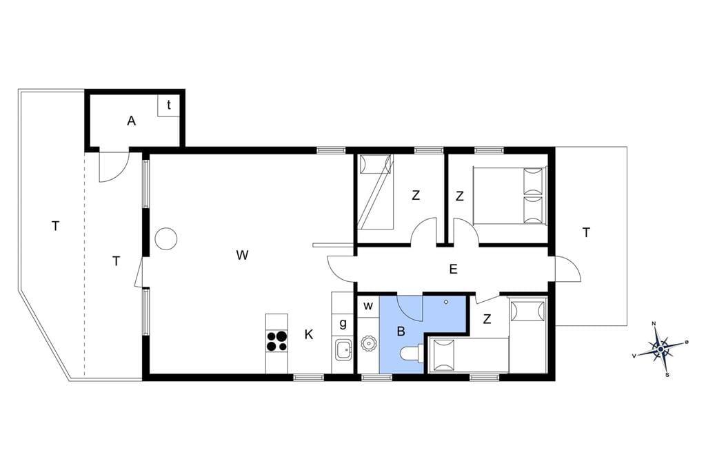 Indretning 1-14 Sommerhus 416, Revlingevej 28, DK - 9493 Saltum