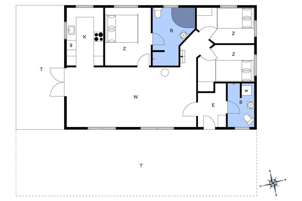 Indretning 1-17 Sommerhus 12222, Pedelvej 8, DK - 4583 Sjællands Odde
