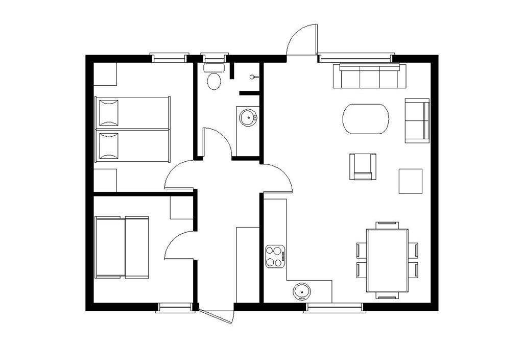 Indretning 1-22 Sommerhus C11188, Bork Hytteby 211, DK - 6893 Hemmet