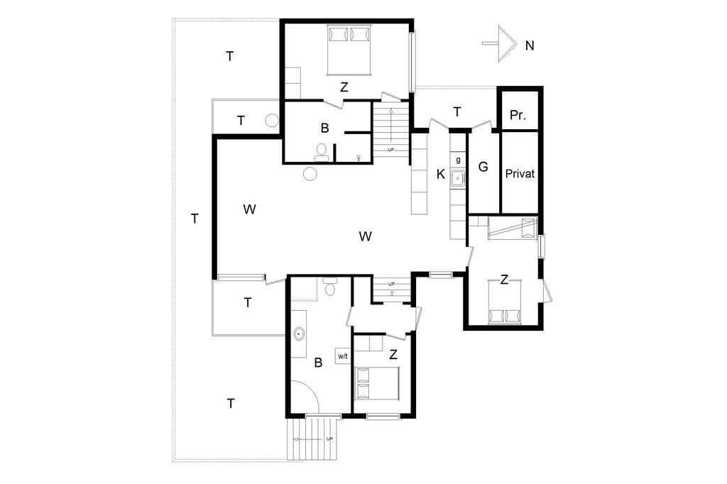 Indretning 1-14 Sommerhus 172, Sætergaardsstien 6, DK - 9492 Blokhus