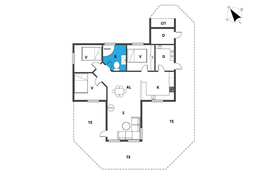 Indretning 1-23 Sommerhus 8102, Præstekravevej 7, DK - 8410 Rønde