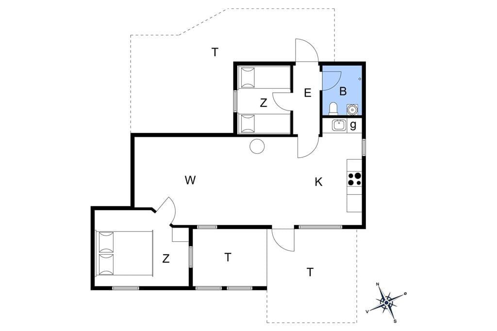 Indretning 1-22 Sommerhus C11007, Bork Hytteby 12, DK - 6893 Hemmet