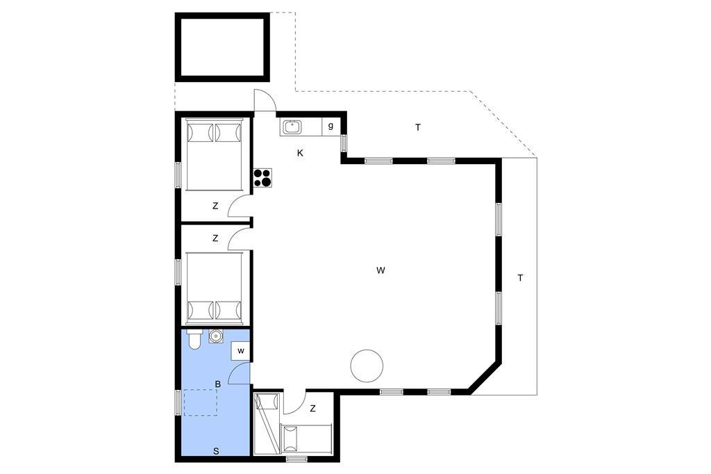 Indretning 1-11 Sommerhus 0048, Trinnesvej 12, DK - 6792 Rømø