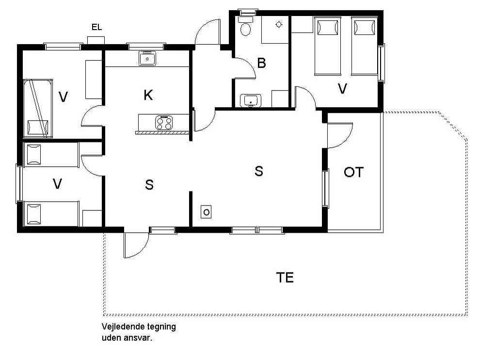 Innenausstattung 1-19 Ferienhaus 30339, Rude Skovvej 9, DK - 8300 Odder