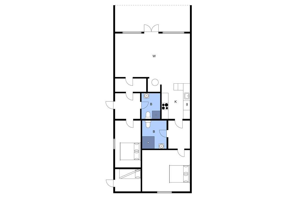 Indretning 1-3 Sommerhus M65015, Holmevej 8, DK - 5580 Nørre Aaby