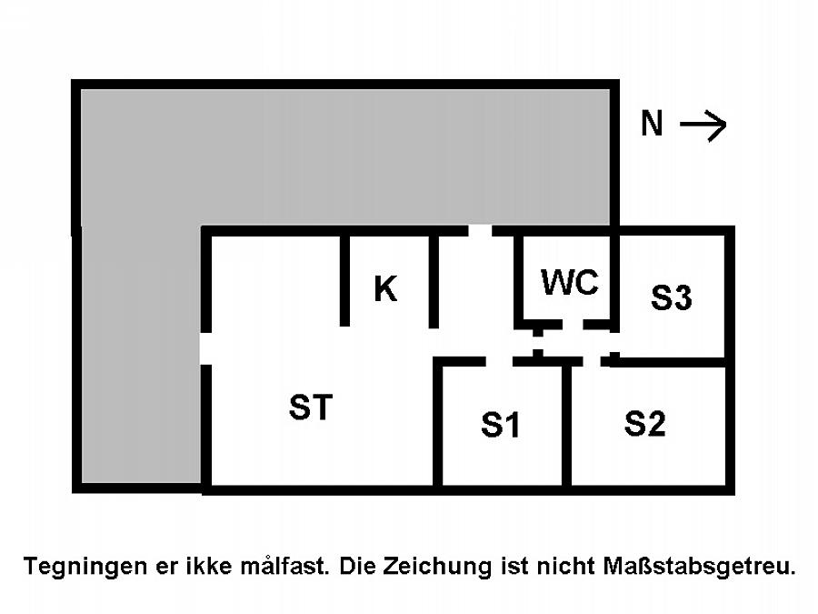 Indretning 1-15 Sommerhus 3041, Rambukken 3, DK - 4780 Stege