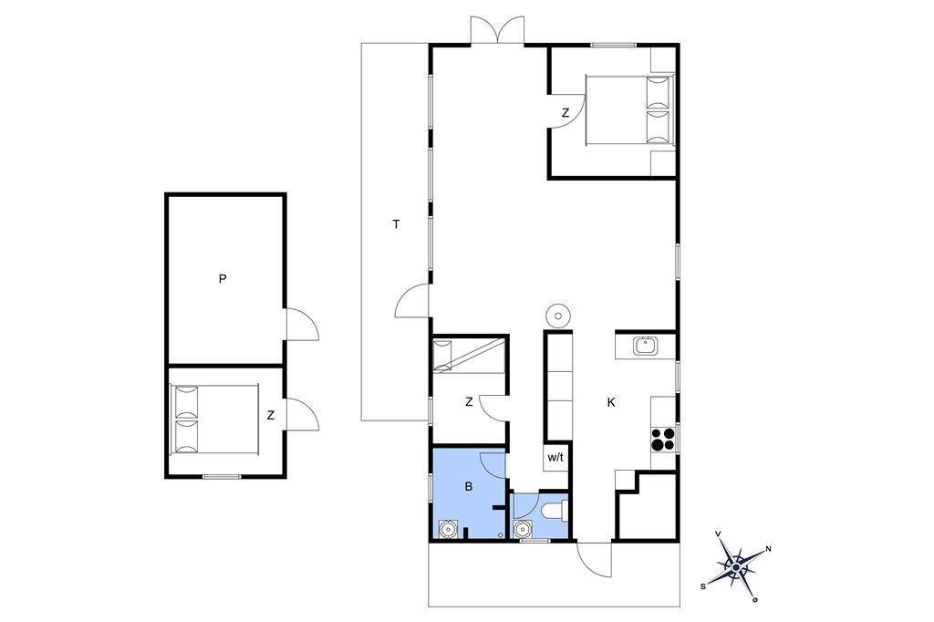 Indretning 1-14 Sommerhus 1252, Lyngbakkevej 5, DK - 9492 Blokhus