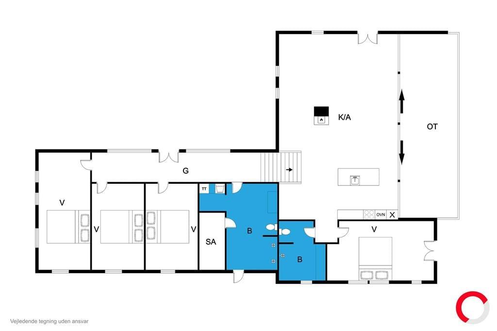 Indretning 1-170 Sommerhus 20503, Strandkrogen 37, DK - 8305 Samsø