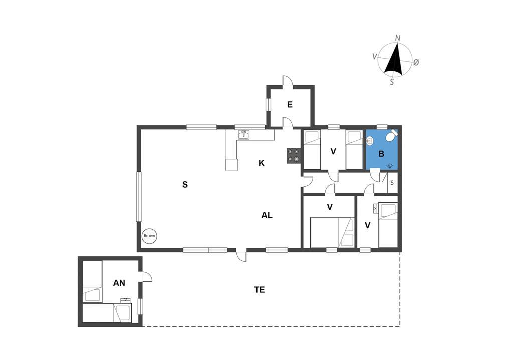 Indretning 1-23 Sommerhus 8804, Vesttoften 20, DK - 8585 Glesborg