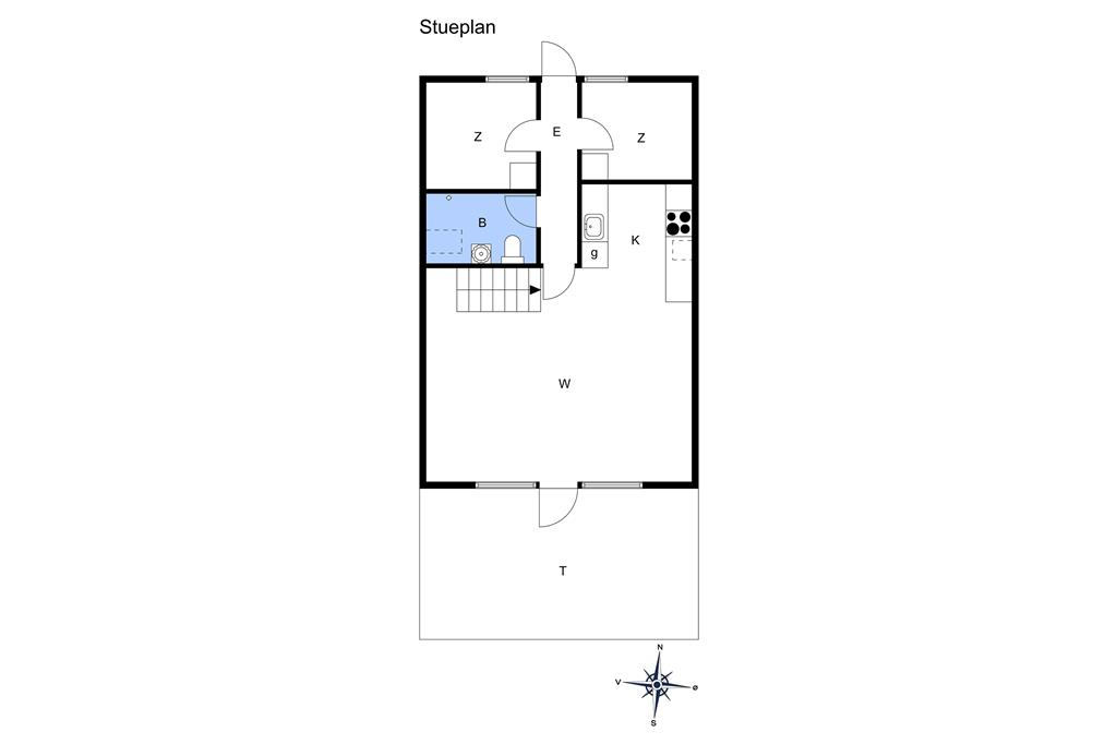 Indretning 1-15 Sommerhus 3023, Rambukken 4, DK - 4780 Stege
