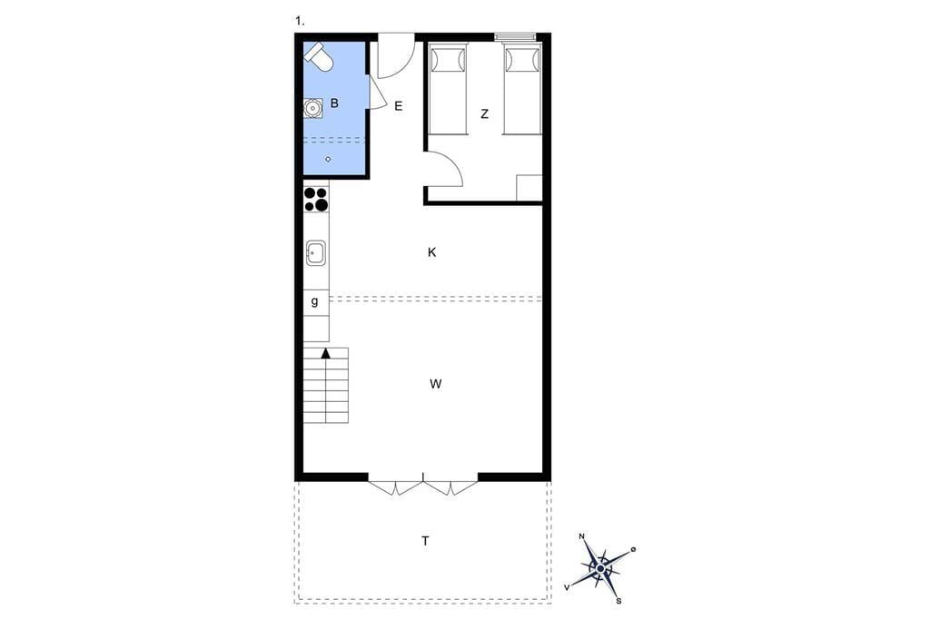 Indretning 1-13 Sommerhus 266, Havnevej 1, DK - 7770 Vestervig