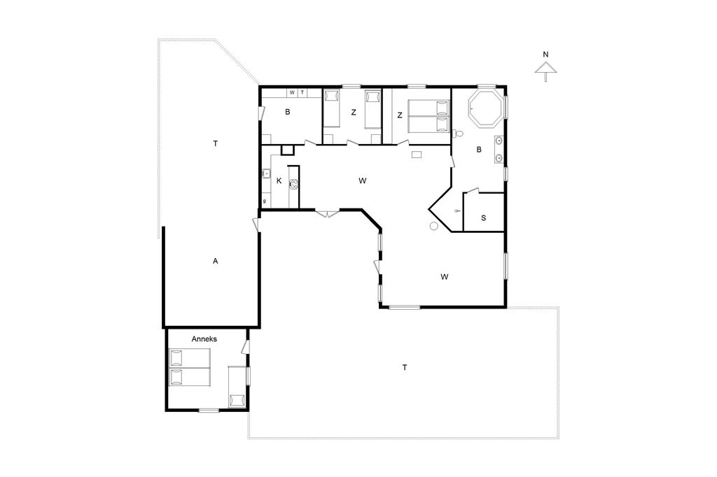 Indretning 1-14 Sommerhus 750, Tyttebærvej 4, DK - 9800 Hjørring