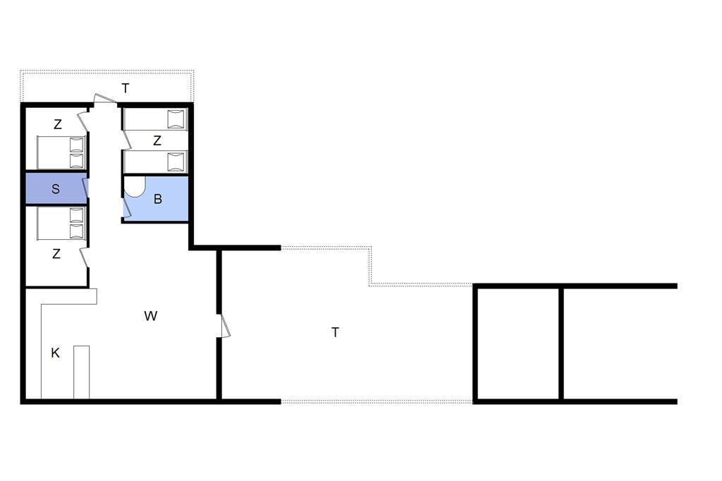 Indretning 1-22 Sommerhus C11050, Mågevænget 10, DK - 6893 Hemmet