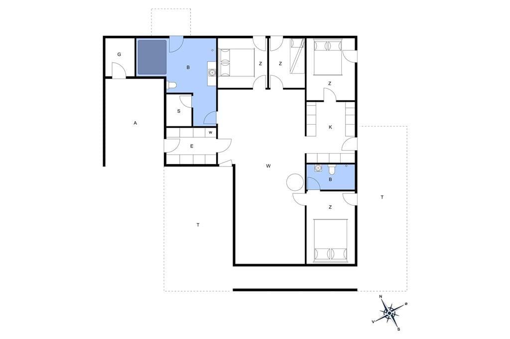 Innenausstattung 1-20 Ferienhaus 232, Doblervej 12, DK - 7673 Harboøre