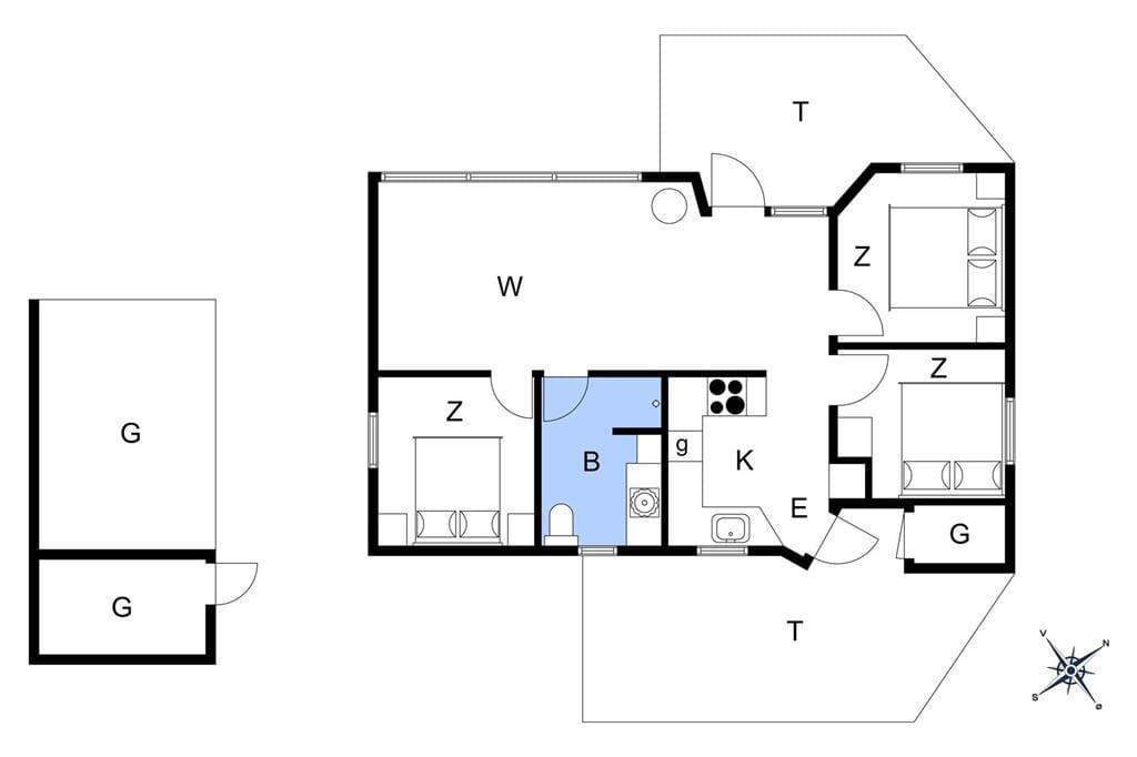 Indretning 1-401 Sommerhus HA266, Kongevejen 6, DK - 9370 Hals