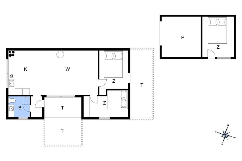 Inredning 1-14 Stuga 1082, Klintevej 12, DK - 9492 Blokhus