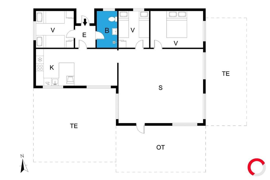 Indretning 1-19 Sommerhus 40532, Pøt Strandby 69, DK - 7130 Juelsminde