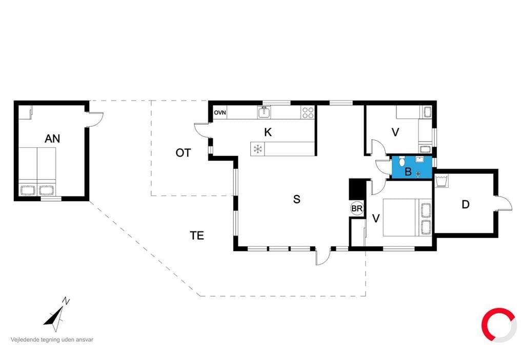 Innenausstattung 1-19 Ferienhaus 30138, Lundgaardsvej 34, DK - 8300 Odder